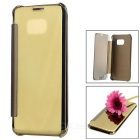 Mirror Cover Protective Flip Case for Samsung Galaxy S7 Edge - Golden