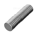 15*4mm Round NdFeB Magnet - Silver (20PCS)