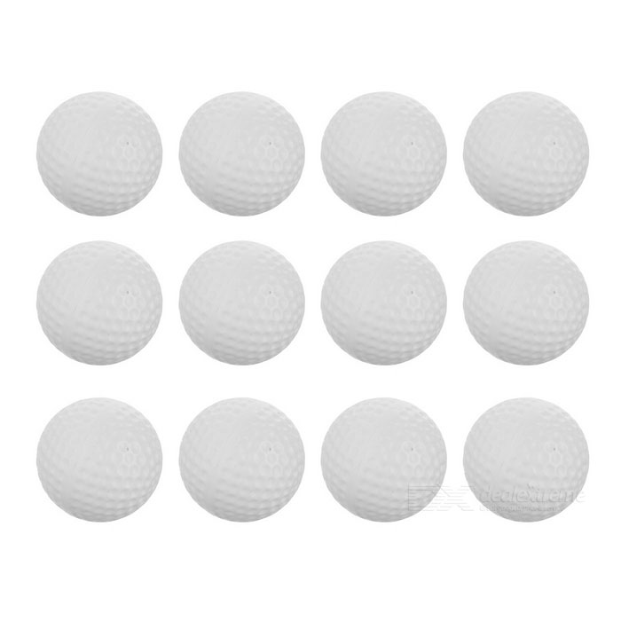 TOURLOGIC Indoor Practice Golf Balls - White (12PCS)