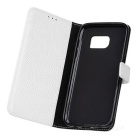 PU Leather Case w/ Holder Card Slot for Samsung Galaxy S7 - White