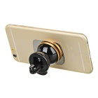 Rotary Magnetic Car Air Vent Mount Holder for Phone - Black + Golden