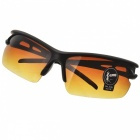 Men's Driving UV400 Protection Sunglasses Goggles - Black + Tawny