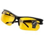 Men's Driving UV400 Protection Sunglasses Goggles - Black + Yellow