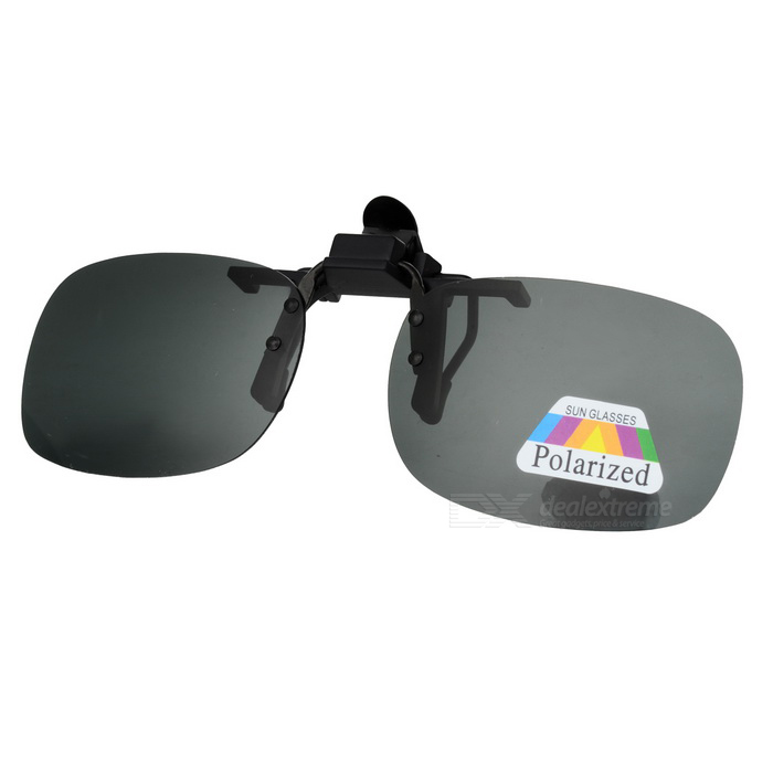 UV400 Protection Sunglasses Polarized Lenses - Black + Grey (M)