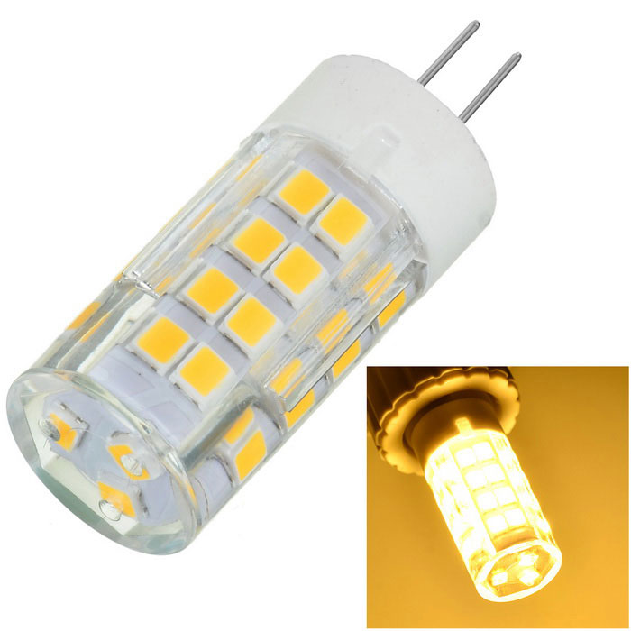 Marsing G4 6W Warm White Light Lamp - White + Yellow (AC 220~240V)G4<br>Form  ColorWhite + Yellow + Multi-ColoredColor BINWarm WhiteMaterialCeramic + PCQuantity1 DX.PCM.Model.AttributeModel.UnitPower6WRated VoltageAC 220-240 DX.PCM.Model.AttributeModel.UnitConnector TypeG4Chip TypeLEDEmitter TypeOthers,SMD 2835Total Emitters51Actual Lumens500~600 DX.PCM.Model.AttributeModel.UnitColor Temperature3000KDimmableNoBeam Angle360 DX.PCM.Model.AttributeModel.UnitCertificationCE, RoHSPacking List1 x LED Bulb<br>