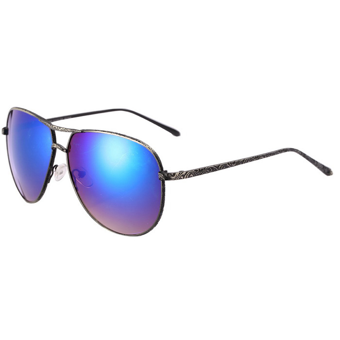 Reedoon S716 UV400 Protection Polarized Sunglasses - Gun Color + Blue
