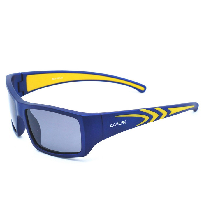 CAALEX KLX-107 Children's TPE Frame Polarized PC Lenses Sunglasses - Sapphire Blue
