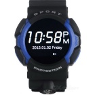 "NO.1 A10 Smart Watch Support IOS / Android w/ 1.22"" IPS - Blue + Black"