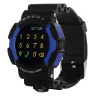 "NO.1 A10 montre Smart Watch soutien IOS / Android w / 1.22 ""IPS - Bleu + Noir"