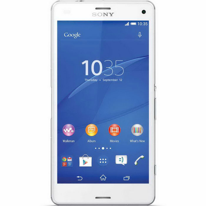 Sony Xperia Z3 Compact D5803 16 Gt ROM Dual-Sim-Valkoinen