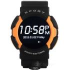 "NO.1 A10 Smart Watch Support IOS Android w/ 1.22"" IPS - Orange + Black"