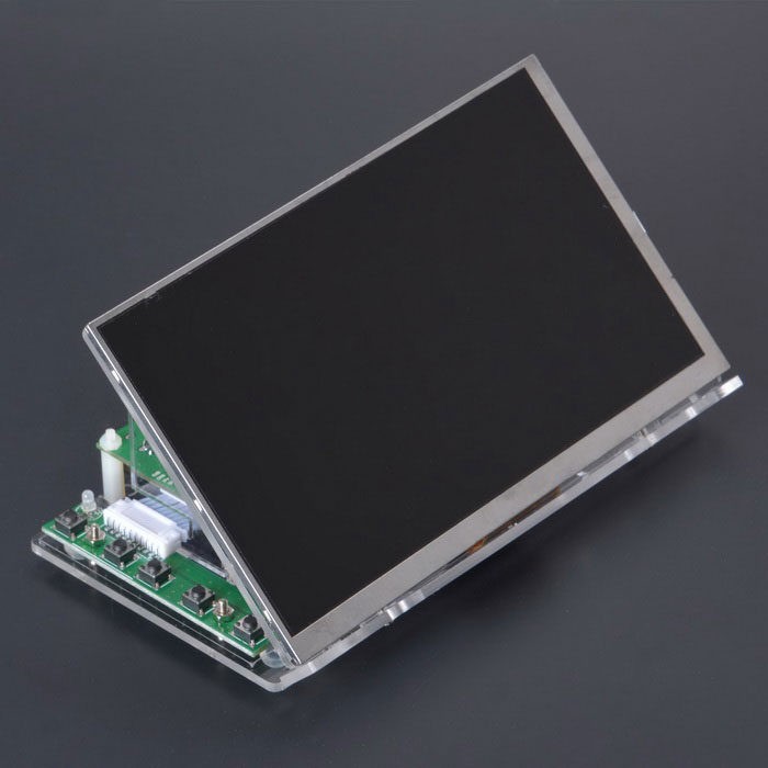 "7"" 1024 x 600 HDMI Capacitive Touch Screen w/ Acrylic Bracket - Green"