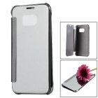 Mirror Cover Clear Case for Samsung Galaxy S7 - Silver
