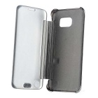 Mirror Cover Protective Flip Case for Samsung Galaxy S7 Edge - Silver