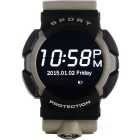 "NO.1 A10 Smart Watch Support IOS / Android w/ 1.22"" IPS - Gray + Black"