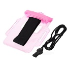 Protettivo Impermeabile Holder screen del telefono Bag supporto touch - Rosa