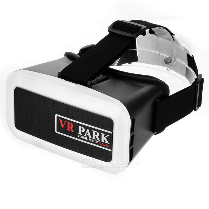 "VR PARK Virtual Reality VR 3D Glasses for 4.0~6.0"" Smart Phones - White + Black"