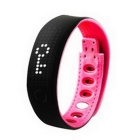 B17 Smart Bracelet Bluetooth V4.0 Health Wristband w/ Sedentary Reminder, Pedometer - Black + Red