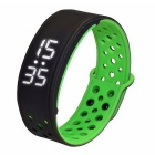 W9 Smart Wrist Bracelet Pedometer Activity Tracker - Black + Green