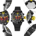 BESNEW BN-1531 menn LED Analog Digital Sports Watch - Black + Gul
