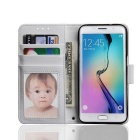 PU Leather + PC Case for Samsung Galaxy S7 - White