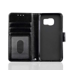 PU Leather + TPU Case for Samsung Galaxy S7 Edge - Black