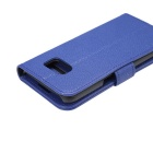 PU Full Body Case w/ Stand for for Samsung Galaxy S7 Edge - Blue