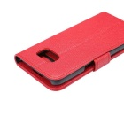 PU Full Body Case w/ Stand for for Samsung Galaxy S7 Edge - Red