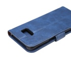 Premium PU Case w/ Card Slots for Samsung Galaxy S7 Edge - Blue