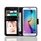 PU Leather + PC Case for Samsung Galaxy S7 - Black
