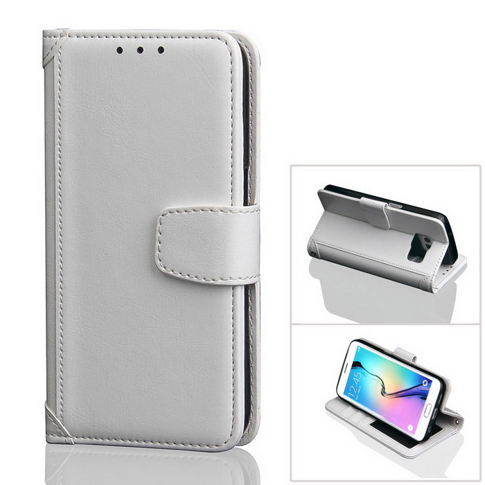 PU Leather + TPU Case for Samsung Galaxy S7 Edge - White