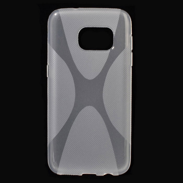 """X"" Style TPU Back Case for Samsung Galaxy S7 - Transparent"