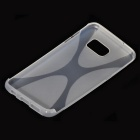 """X"" Style TPU Back Case for Samsung Galaxy S7 Edge - Transparent"