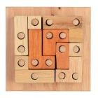 Blocks Inserting Board Game Educational Toy - Wood Color + Brown