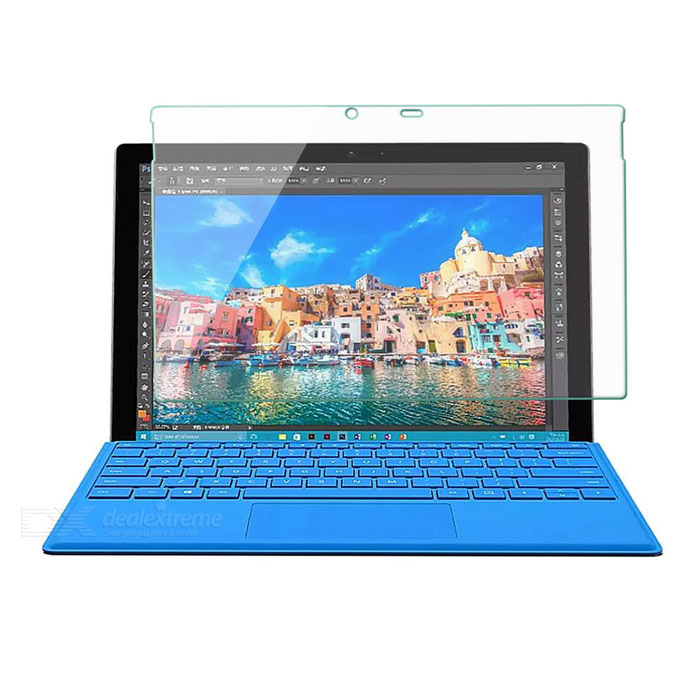 premium tempered glass screen protector for microsoft surface pro 4 free shipping dealextreme. Black Bedroom Furniture Sets. Home Design Ideas