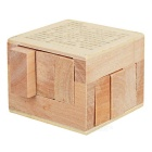 Wooden Cube Brain Teaser Educational Puzzle Toy - Wood