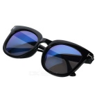 Fashionable Outdoor UV Protection Blue REVO Lenses Sunglasses - Black