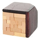 Holz-T-Form Blöcke Educational Puzzle Spielzeug - Holz Farbe + Brown