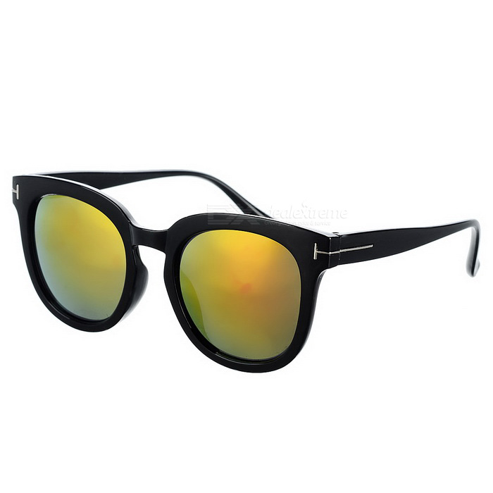 Fashionable Outdoor UV Protection Red REVO Lenses Sunglasses - Black