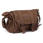 CADEN F1 Outdoor Travel Single-Shoulder Camera Bag - Coffee + Beige