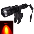 RichFire SF-76B LED Red Light Hunting Flashlight - Black (1*18650)