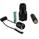 RichFire SF-76B CREE XP-E R2 N4 LED Red Light Hunting Flashlight - Black (1*18650)