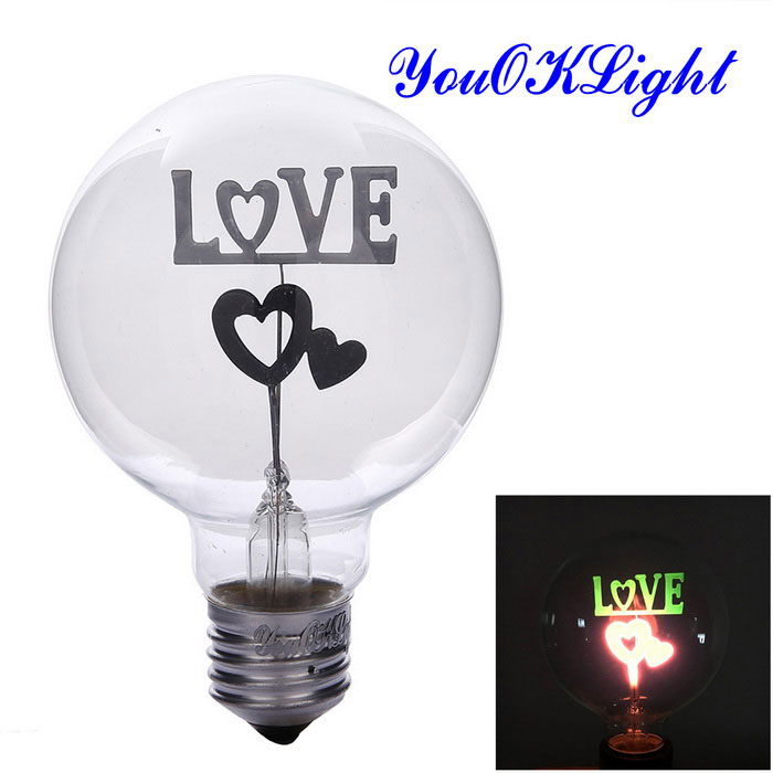 YouOKLight YK0840 E27 3W Neon Colorful Light - Silvery White (220V)