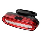 Powered USB Rojo + Azul de la bici de 15 LED de luz de la cola w / Clip - rojo + blanco