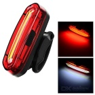 USB Powered White + Red 15-LED Bike Tail Light w/ Clip - Red + Yellow