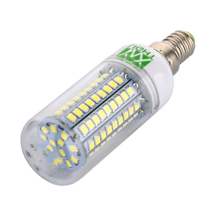 YWXLight E14 12W 102-2835 SMD Cool White LED Corn Light (AC 220~240V)