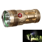 KINFIRE K40X LED 3-Mode White Light Flashlight - Gold + Red (4*18650)