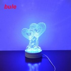 Jiawen 3.5W 3D Illusion Creative Light Desk Lamp - White (110-220V)