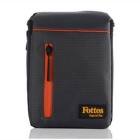 Fottos F0039 GY Camera Bag for All Mini DSLR / DV - Grey + Orange