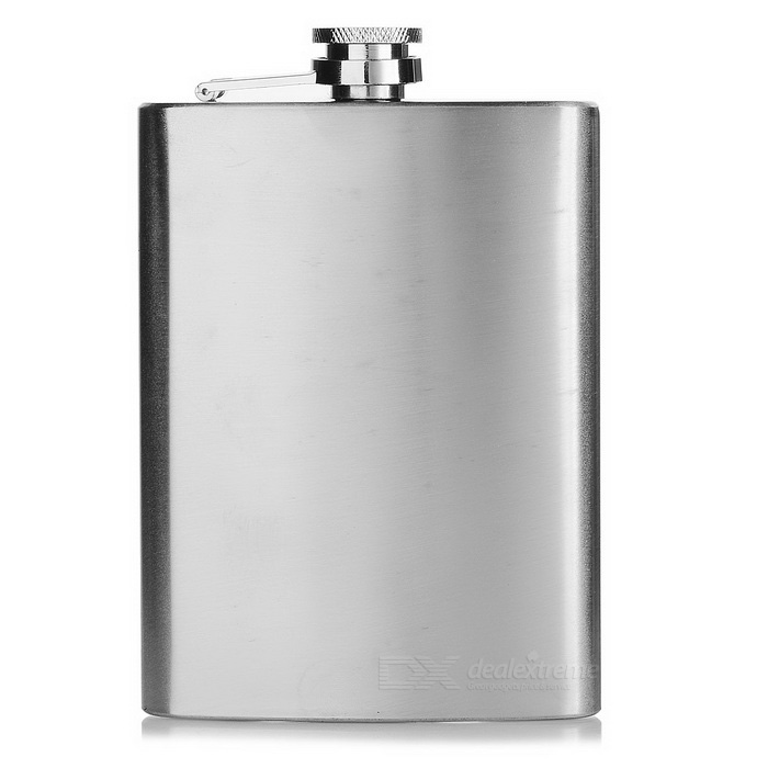 AoTu AT6629 Outdoor Portable Ruostumaton teräs Hip Flask - hopea (8oz)